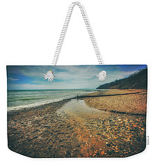 Weekender Tote Bag featuring the photograph Grant Park - Lake Michigan Beach by Jennifer Rondinelli Reilly - Fine Art Photography