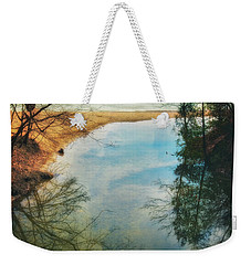 Weekender Tote Bag featuring the photograph Grant Park - Lake Michigan Shoreline by Jennifer Rondinelli Reilly - Fine Art Photography