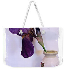 Grape Iris In A Vase Weekender Tote Bag
