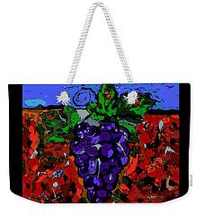 Grape Jazz Digital Weekender Tote Bag