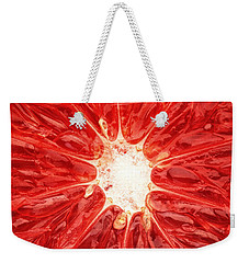 Grapefruit Close-up Weekender Tote Bag by Johan Swanepoel