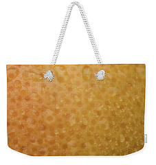 Grapefruit Skin Weekender Tote Bag by Steve Gadomski