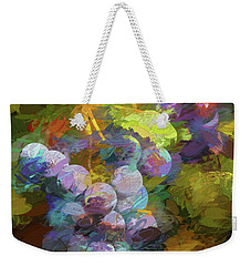 Grapes In Abstract Weekender Tote Bag by Penny Lisowski