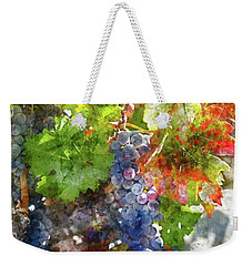 Grapes On The Vine In The Autumn Season Weekender Tote Bag