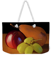 Grapes Plum And Pear 01 Weekender Tote Bag by Wally Hampton