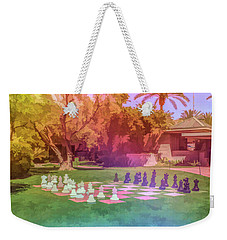 Weekender Tote Bag featuring the photograph Graphic Rainbow Chess At The Biltmore by Aimee L Maher Photography and Art Visit ALMGallerydotcom