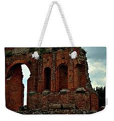 Weekender Tote Bag featuring the photograph Grand Roman Remains by Richard Ortolano