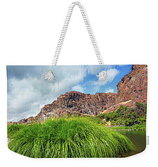 Grass Along John Day River In Central Oregon Weekender Tote Bag