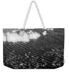 Grass And Water And Lilly Pads Bw2  Weekender Tote Bag by Lyle Crump