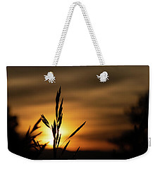 Grass At Sunset Weekender Tote Bag