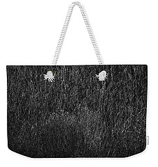 Grass Black And White Weekender Tote Bag
