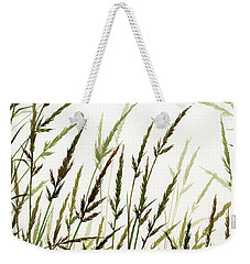 Weekender Tote Bag featuring the painting Grass Design by James Williamson