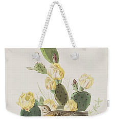 Grass Finch Or Bay Winged Bunting Weekender Tote Bag by John James Audubon