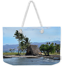 Weekender Tote Bag featuring the photograph Grass Shack by Pamela Walton