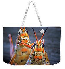 Grasshoppers In Love Weekender Tote Bag