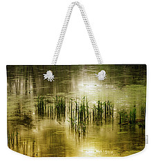 Weekender Tote Bag featuring the photograph Grassland Abstract by Jessica Jenney
