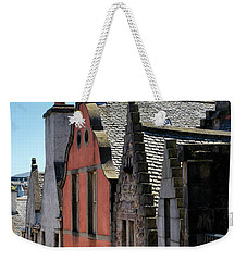 Weekender Tote Bag featuring the photograph Grassmarket In Edinburgh, Scotland by Jeremy Lavender Photography