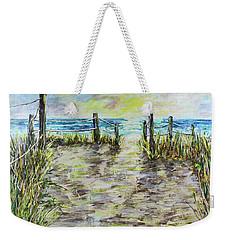 Grassy Beach Post Morning 2 Weekender Tote Bag