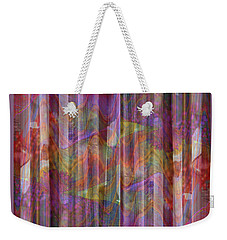 Grate Art 4 - Flowing Floral Fabric - Photograph Manipulation Weekender Tote Bag