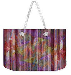Grate Art 4 - Flowing Floral Fabric - Photograph Manipulation Weekender Tote Bag
