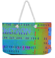 Grateful Dead - Ticket Stub Weekender Tote Bag