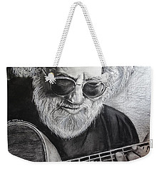 Weekender Tote Bag featuring the drawing  Grateful Dude by Eric Dee