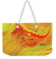 Gratitude - Red And Yellow Colorful Abstract Art Painting Weekender Tote Bag