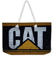 Gravel Pit Cat Signage Hydraulic Excavator Weekender Tote Bag