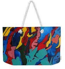 Weekender Tote Bag featuring the painting Gravity Prevails by Bernard Goodman
