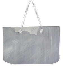 Gray And Yellow Weekender Tote Bag