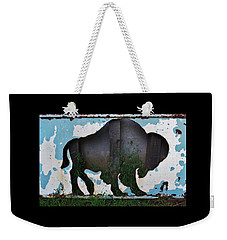 Weekender Tote Bag featuring the photograph Gray Buffalo by Larry Campbell