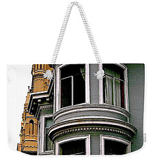 Gray By The Bay Weekender Tote Bag by Ira Shander
