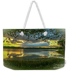 Gray Cloud Sunset Weekender Tote Bag