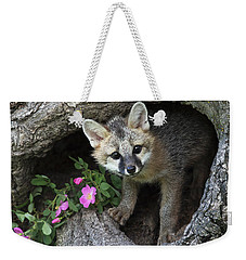 Gray Fox Kit Weekender Tote Bag