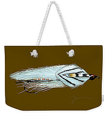 Weekender Tote Bag featuring the painting Gray Ghost by Jean Pacheco Ravinski