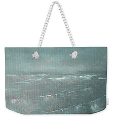 Weekender Tote Bag featuring the painting Gray by Jane See