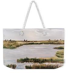 Gray Marsh Weekender Tote Bag