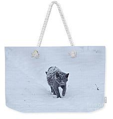 Gray On White Weekender Tote Bag