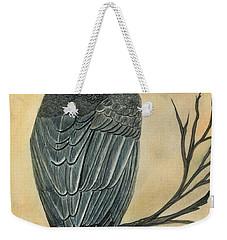 Gray Parrot Weekender Tote Bag