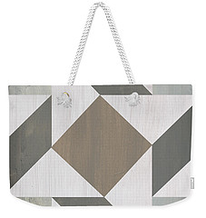 Weekender Tote Bag featuring the painting Gray Quilt by Debbie DeWitt