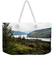 Gray Skies Around The Bend Weekender Tote Bag
