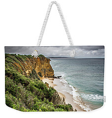 Weekender Tote Bag featuring the photograph Gray Skies by Perry Webster