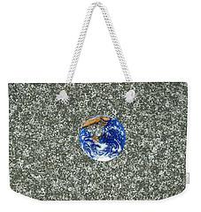 Gray Space Weekender Tote Bag