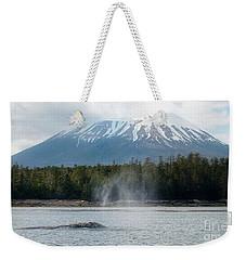 Gray Whale, Mount Edgecumbe Sitka Alaska Weekender Tote Bag