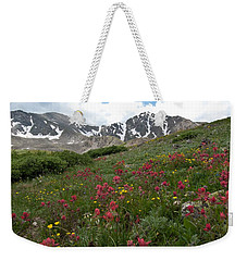 Weekender Tote Bag featuring the photograph Gray's And Torreys by Cascade Colors