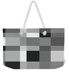 Weekender Tote Bag featuring the digital art Grayscale Check by Bruce Stanfield