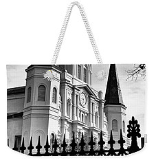 Grayscale St. Louis Cathedral Weekender Tote Bag