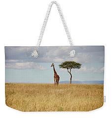 Grazing Giraffe Weekender Tote Bag