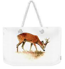 Grazing Roebuck Watercolor Weekender Tote Bag