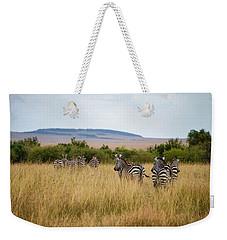 Grazing Zebras Weekender Tote Bag